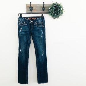 Rock Revival Chrissie Straight Distressed Jeans 27